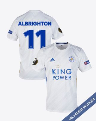 Marc Albrighton - Leicester City White Away Shirt 2020/21 - UEL