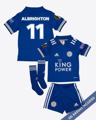 Marc Albrighton - Leicester City King Power Home Shirt 2020/21 - Mini Kit UEL
