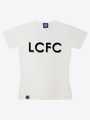 Leicester City Womens White/Navy Alexadrite T-Shirt