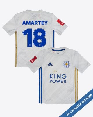Daniel Amartey - Leicester City Away Shirt 2020/21 - Kids FA CUP