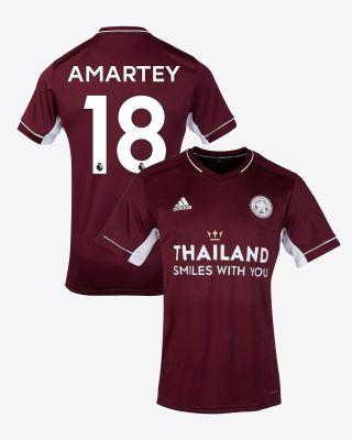 Daniel Amartey - Leicester City Maroon Away Shirt 2020/21 - Kids