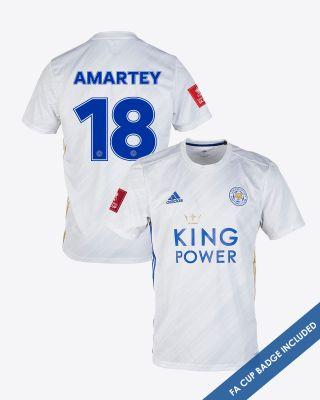 Daniel Amartey - Leicester City White Away Shirt 2020/21 - FA CUP