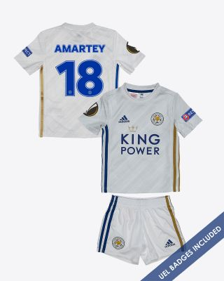Daniel Amartey - Leicester City Away Shirt 2020/21 - Mini Kit UEL