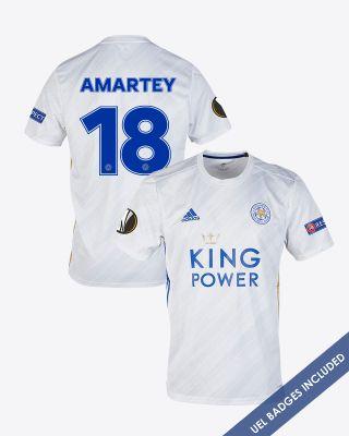 Daniel Amartey - Leicester City White Away Shirt 2020/21 - UEL