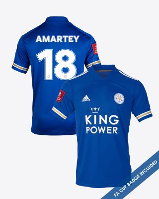 Daniel Amartey - Leicester City King Power Home Shirt 2020/21 - FA CUP
