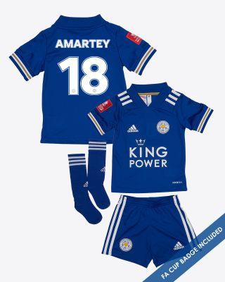 Daniel Amartey - Leicester City King Power Home Shirt 2020/21- Mini Kit FA CUP