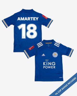 Daniel Amartey - Leicester City King Power Home Shirt 2020/21 - Kids FA CUP