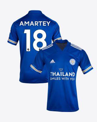 Daniel Amartey - Leicester City TSWY Home Shirt 2020/21 - Kids