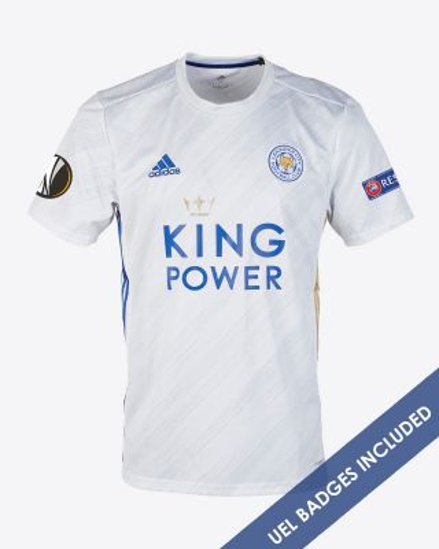 Harvey Barnes - Leicester City White Away Shirt 2020/21 - UEL