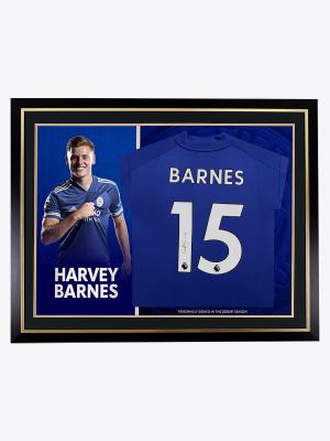 Leicester City 2020/21 Season Barnes Framed Signed Shirt