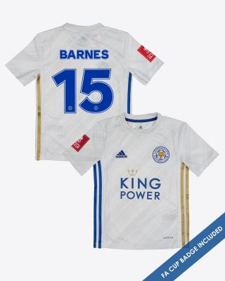 Harvey Barnes - Leicester City Away Shirt 2020/21 - Kids FA CUP