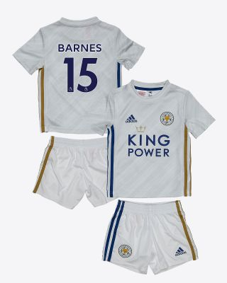 Harvey Barnes - Leicester City White Away Shirt 2020/21 - Mini Kit