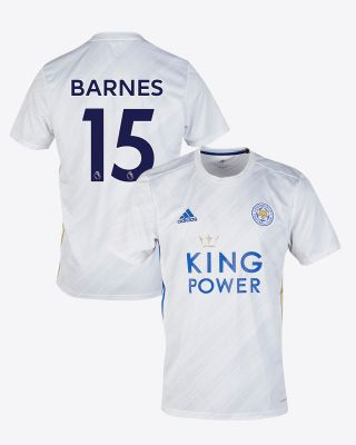 Harvey Barnes - Leicester City White Away Shirt 2020/21
