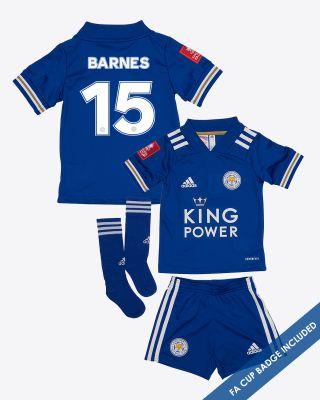 Harvey Barnes - Leicester City King Power Home Shirt 2020/21- Mini Kit FA CUP
