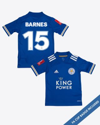 Harvey Barnes - Leicester City King Power Home Shirt 2020/21 - Kids FA CUP