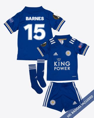Harvey Barnes - Leicester City King Power Home Shirt 2020/21 - Mini Kit UEL