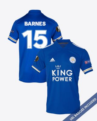 Harvey Barnes - Leicester City King Power Home Shirt 2020/21 - UEL