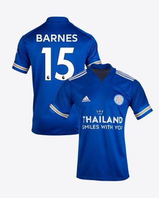 Harvey Barnes - Leicester City TSWY Home Shirt 2020/21 - Kids
