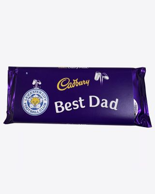Leicester City 110g Best Dad Cadbury Bar
