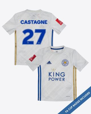 Timothy Castagne  - Leicester City Away Shirt 2020/21 - Kids FA CUP