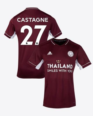 Timothy Castagne  - Leicester City Maroon Away Shirt 2020/21