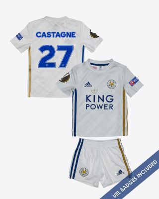 Timothy Castagne  - Leicester City Away Shirt 2020/21 - Mini Kit UEL