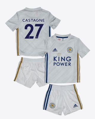 Timothy Castagne  - Leicester City White Away Shirt 2020/21 - Mini Kit
