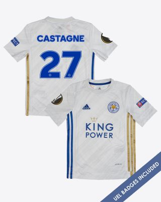 Timothy Castagne  - Leicester City Away Shirt 2020/21 - Kids UEL