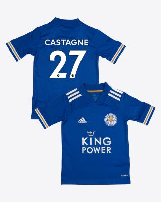 Timothy Castagne  - Leicester City King Power Home Shirt 2020/21 - Kids