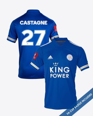 Timothy Castagne  - Leicester City King Power Home Shirt 2020/21 - FA CUP