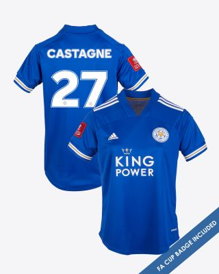 Timothy Castagne  - Leicester City King Power Home Shirt 2020/21 - Womens FA CUP