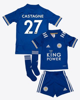 Timothy Castagne  - Leicester City King Power Home Shirt 2020/21 - Mini Kit