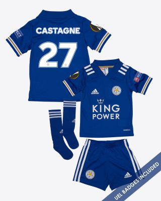 Timothy Castagne  - Leicester City King Power Home Shirt 2020/21 - Mini Kit UEL