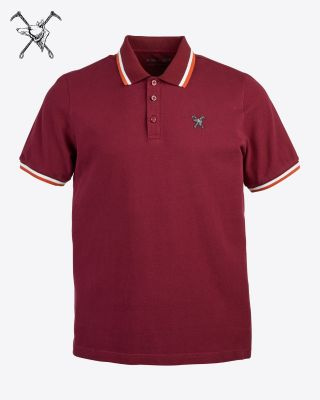 Fox & Crop Mens Cherry Polo