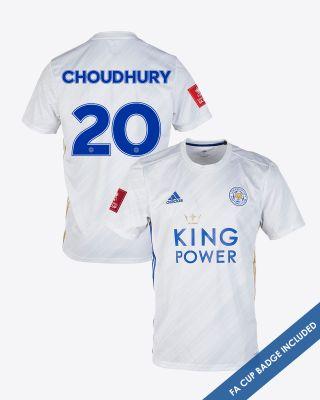 Hamza Choudhury - Leicester City White Away Shirt 2020/21 - FA CUP