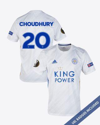 Hamza Choudhury - Leicester City White Away Shirt 2020/21 - UEL