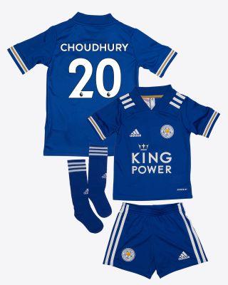 Hamza Choudhury - Leicester City King Power Home Shirt 2020/21 - Mini Kit