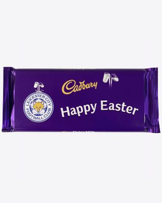 Leicester City 110g Easter Cadbury Bar