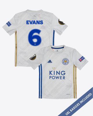 Jonny Evans - Leicester City Away Shirt 2020/21 - Kids UEL