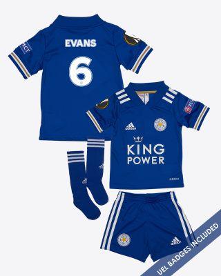 Jonny Evans - Leicester City King Power Home Shirt 2020/21 - Mini Kit UEL