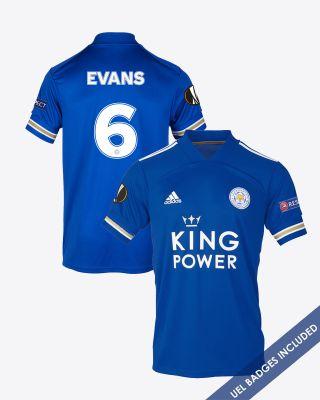 Jonny Evans - Leicester City King Power Home Shirt 2020/21 - UEL