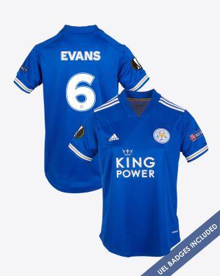 Jonny Evans - Leicester City King Power Home Shirt 2020/21 - Womens UEL