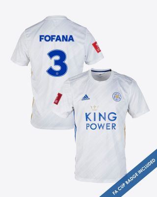 Wesley Fofana  - Leicester City White Away Shirt 2020/21 - FA CUP