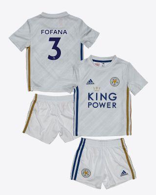 Wesley Fofana  - Leicester City White Away Shirt 2020/21 - Mini Kit
