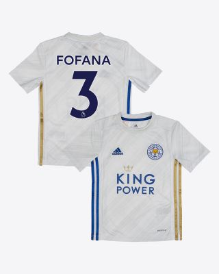 Wesley Fofana  - Leicester City White Away Shirt 2020/21 - Kids