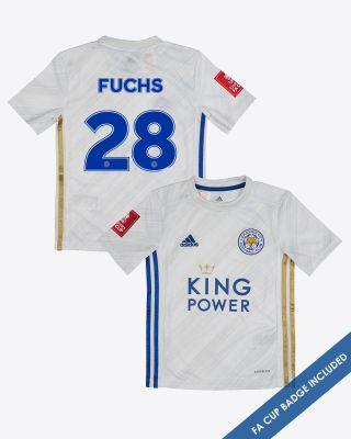 Christian Fuchs - Leicester City Away Shirt 2020/21 - Kids FA CUP