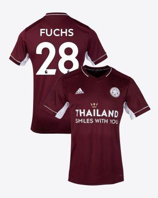 Christian Fuchs - Leicester City Maroon Away Shirt 2020/21 - Kids
