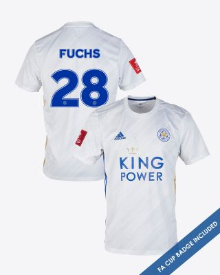 Christian Fuchs - Leicester City White Away Shirt 2020/21 - FA CUP