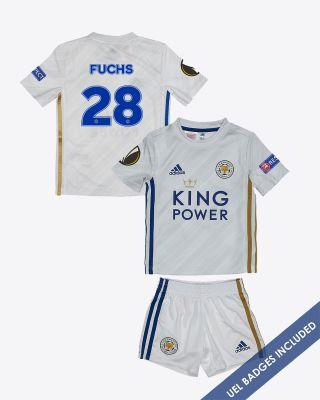 Christian Fuchs - Leicester City Away Shirt 2020/21 - Mini Kit UEL