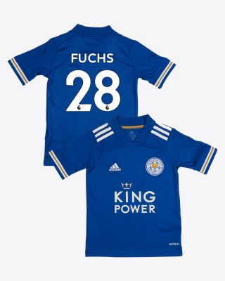 Christian Fuchs - Leicester City King Power Home Shirt 2020/21 - Kids